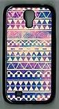Samsung Galaxy S4 I9500 Case Hipstr Nebula & white Aztec Andes Tribal Pattern Samsung galaxy s4 case