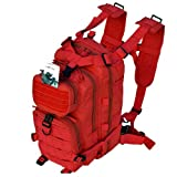 Every Day Carry Tactical Assault Bag EDC Day Pack Backpack Molle Webbing Red