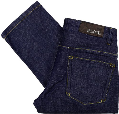 Moschino Men's Caipiroska Dark Indigo Stretch Regular Fit Jeans (36)