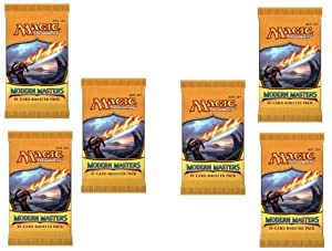 2 Player Booster Draft Set: Magic the Gathering MTG - Modern Masters Booster Packs (6 Packs)