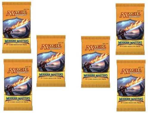 2 Player Booster Draft Set: Magic The Gathering Mtg - Modern Masters Booster Packs (6 Packs) front-478336