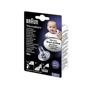 Braun Ersatzschutzkappen für Braun Thermoscan Thermometer, 40 Stück