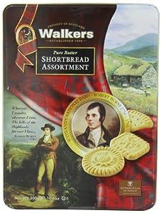 Walkers  Pure  Butter  Shortbread  Robert  Burns Tin (Assorted), 10.6-Ounce