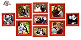 Creative Photo Gallery Frames Set of 9 Red (4-6x6 Inch, 2-5x5 inch & 3-4x6 inch)