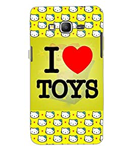 SAMSUNG GALAXY GRAND PRIME I LOVE TOYS Back Cover by PRINTSWAG