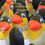 Image de Geburtstags Gästebuch - Pinguine: Damit kein Gast je vergessen wird! (für 70 Gäste