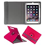 ACM ROTATING 360° LEATHER FLIP CASE FOR APPLE IPAD AIR 1 TABLET STAND COVER HOLDER DARK PINK