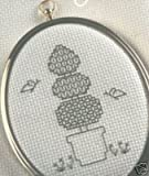 Blackwork Topiary Cross Stitch Kit DMC