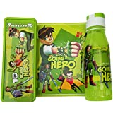 Set Of Ben 10 Pencile Box & Ben 10 Water Bottle For School Kids