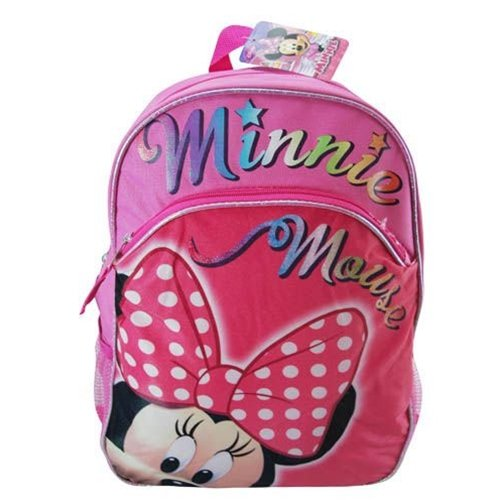 "Disney Minnie Mouse 16"" School Backpack - Micro Silk Printing - 1"