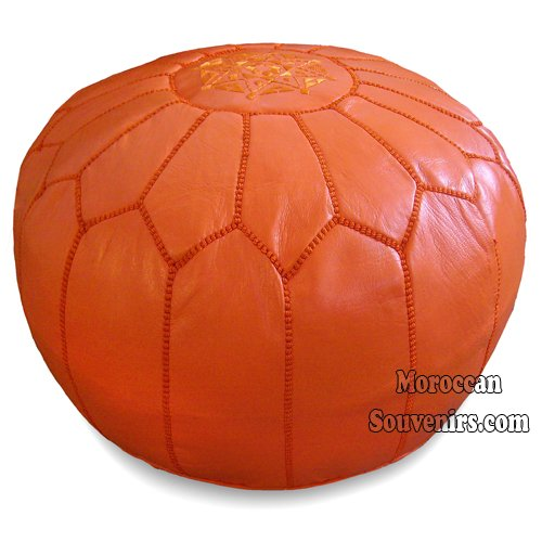 Amazon.com: Moroccan Pouffe in Orange