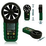 Olymstore MS6252B Digitaler Windmesser mit Thermometer - Anemometer - Handwindmesser mit USB-Schnittstelle