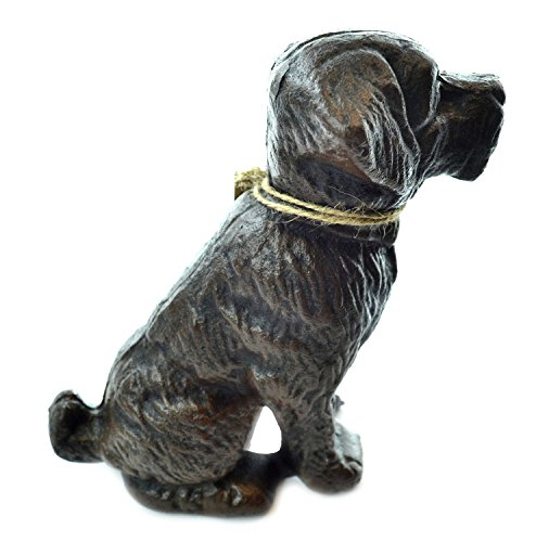 Lulu Decor, Cast Iron Dog Door Stopper, Doorstops, Sculpture, Dog Statue (Antique Black, 9 LB)