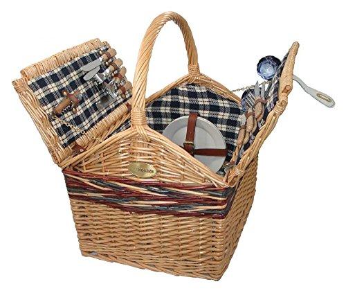 Sutherland Farmhouse Picnic Basket For 4 - Sp229 -