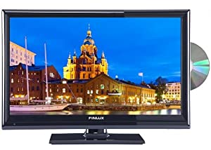 Finlux 24H6071-D 24 Inch LED Multi-Region TV/DVD Combi, HD Ready, Freeview & PVR, Black