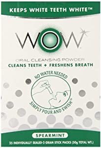 Wow Oral Rinse Powder, Spearmint, 25 Count