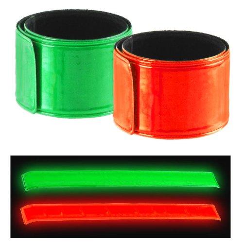 Reflective Safety 2pc Super-Reflective Snap Bracelets Pant Cuff - Auto Roll-Up