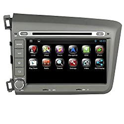 See Generic 8 inch Android 4.2.2 Car PC DVD Player for Honda Civic 2012 GPS Navigation Wifi Bluetooth Radio 3G Car Stereo Audio Capacitive Touch Screen Details
