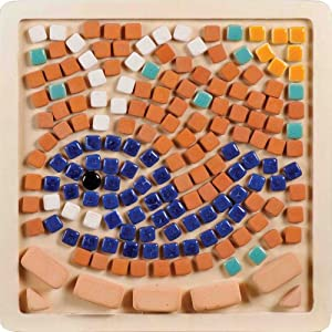 My First Mosaic, Mosaic Kit 7'' 20x20cm Square, Whale