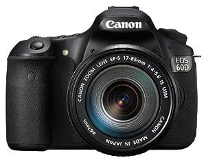 """Canon EOS 60D - Cámara réflex digital de 18 MP (pantalla 3"""", estabilizador óptico, grabación de vídeo), color negro - kit con objetivo EF-S 17-85mm IS USM"""