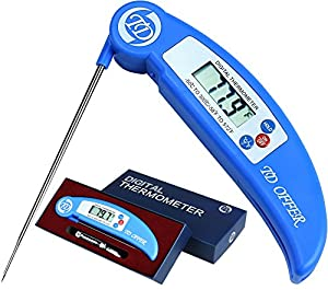 TD OFFER Super Fast Instant Read Digital Thermometer,Best Cooking Thermometer Temperature for All Meat,Food,Grill,BBQ,Cooking,Candy and Kitchen,Meat Thermometer -Lifetime Guarantee