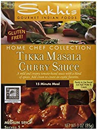 Sukhi\'s Gluten-Free Tikka Masala Sauce, 3-Ounce Packets  (Pack of 6)
