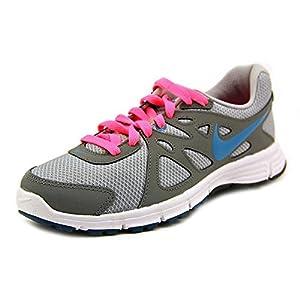 Nike Women's Revolution 2 (WIDE) Wlf Grey/N Trq/Cl Gry/Dgtl Pnk Running Shoe 8 Wide Women US