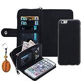 iphone6 plus ケース アイホン6プラスカバー 財布型ケース  多機能  財布 分離式 コインケース カードケース ストラップ付き