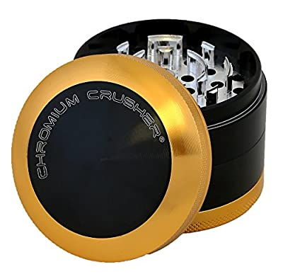 Chromium Crusher 2.5 Inch 4 Piece New Bladed Teeth Tobacco Spice Herb Grinder