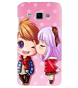 Printvisa Premium Back Cover Animated Girl And Boy In Love Design For Samsung Galaxy J3::Samsung Galaxy J3 J300F