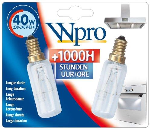 Wpro LMH009 Blister de 2 Ampoule E14 T25L 40 W 230-240 V