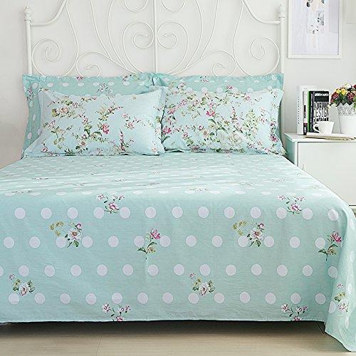Sisbay Spring Rural Bedding Set Vintage Cotton,New Design Elegant Floral Duvet Cover,Girls Wedding Bed Sheet Full,4pcs 4