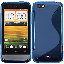 buy Silicone Case For Htc One V - S-Style Blue - Cover Phonenatic + Protective Foils