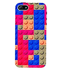 PRINTVISA Abstract Colourful Pattern Case Cover for Apple iPhone 4S