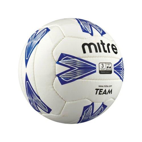 Mitre Team Training Football White/Blue Size 3