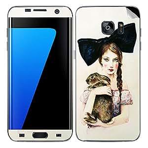 Theskinmantra Cat Women SKIN/STICKER/DECAL for Samsung Galaxy S7 Edge