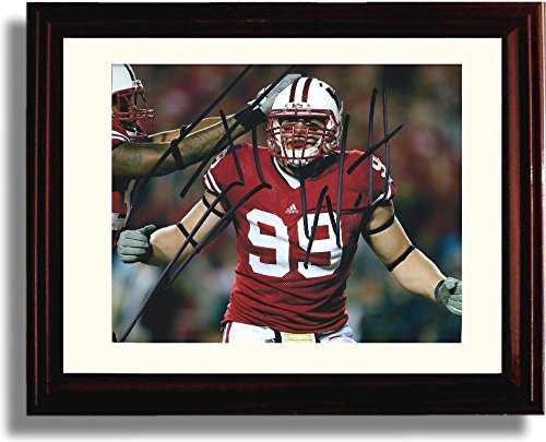 framed-jj-watt-autograph-replica-print-wisconsin-badgers