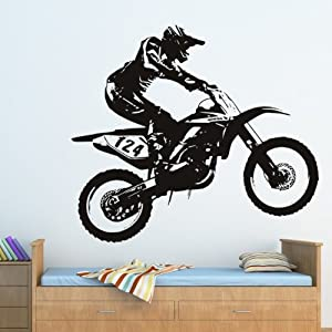 Dirt bike motorbike wall decal wall art stickers 01 for Dirt bike wall mural