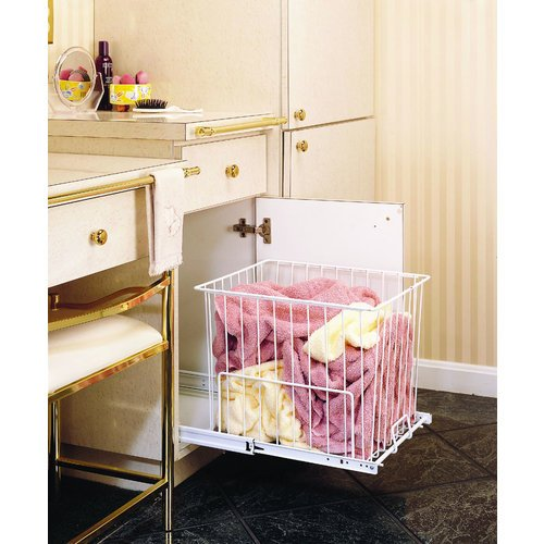 Rev-A-Shelf HRV-1220 S Pull-Out Hamper / Utility Basket - Wire-White
