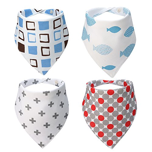 Meaiguo Baby Bandana Drool Bibs Cotton Gifts Set Teething for Boys Girls 4 Pack (Nickle Back Shirts compare prices)