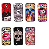 Coloful Fashion Cute New Hybrid Hard Plasitic Shell Back Case Cover Skin For Samsung Galaxy S4 IV i9500 + Screen cleaning cloth with logo US TRADEMARK