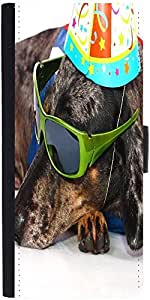 Snoogg A Dogs Life Having Fun At A Party Designer Protective Flip Case Cover ...