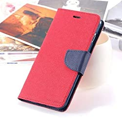 Pikimania Mercury Goospery Fancy Diary Wallet Case Cover for Motorola Moto G3 (Red )