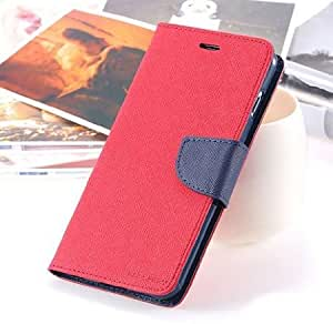 Pikimania Mercury Goospery Fancy Diary Wallet Case Cover for Xiaomi Mi 4i (Red) + OTG cable for Xiaomi Mi 4i