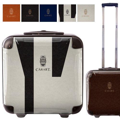 ビジネスアートスーツケース/ナイト/ベーシック/キャラート/ベーシック/クイーン/ジッパー式/2輪/国内旅行/機内持込可能/ブラウン ライトブラウン ダークグレー ネイビー ホワイト モノトーン/CRB01-031