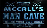 qe1673-b McCall's Man Cave Hockey Bar Neon Beer Sign