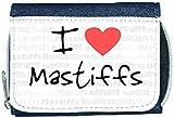 I Love Heart Mastiffs Denim Wallet