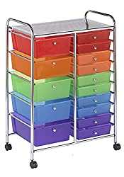ECR4Kids 15 Drawer Mobile Organizer Ast electronic consumers