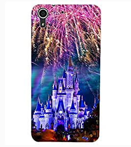 ColourCraft Fire Works Castle Design Back Case Cover for HTC DESIRE 626S