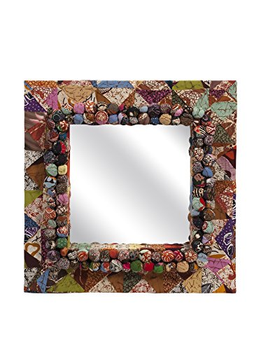 Imax 89866 Alessandra Recycled Batik Fabric Mirror front-466013